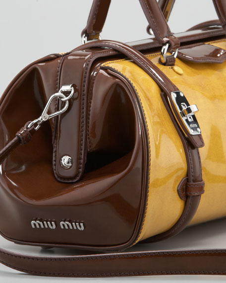 Two-Tone Spazzolato Leather Dr. Bag