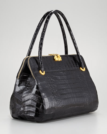BG 111th Anniversary Linda Crocodile Satchel Bag