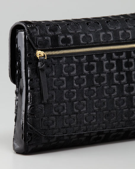 Mimosa Quilted Calfhair Clutch