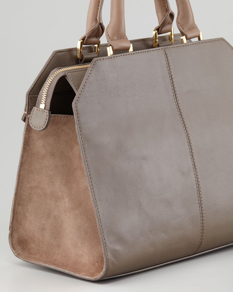 Penelope Satchel Bag, Putty Brown