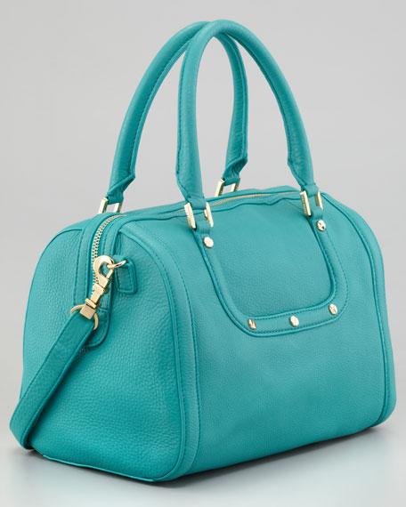 Amanda Middy Satchel Bag, Turquoise