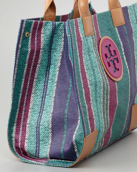 Ella Large Striped Tote Bag, Tribe Violet