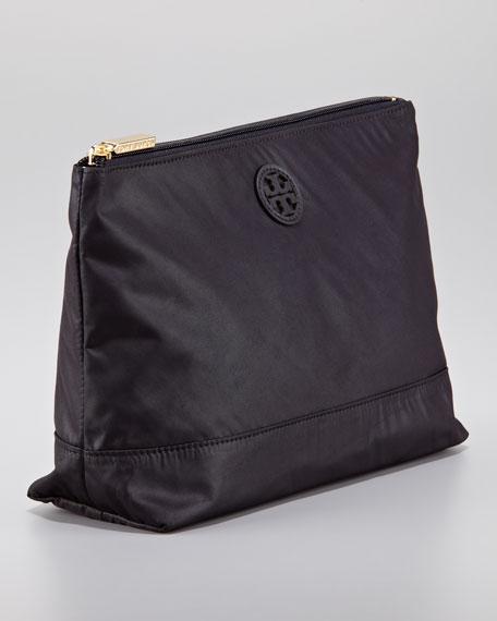 Large Nylon Cosmetic Case, Black