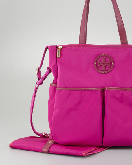 Stacked Logo Billy Baby Bag, Party Fuchsia