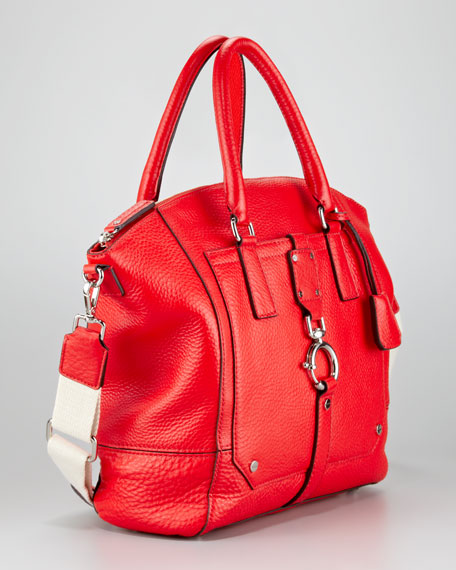 Felicity Tote Bag, Vermillion
