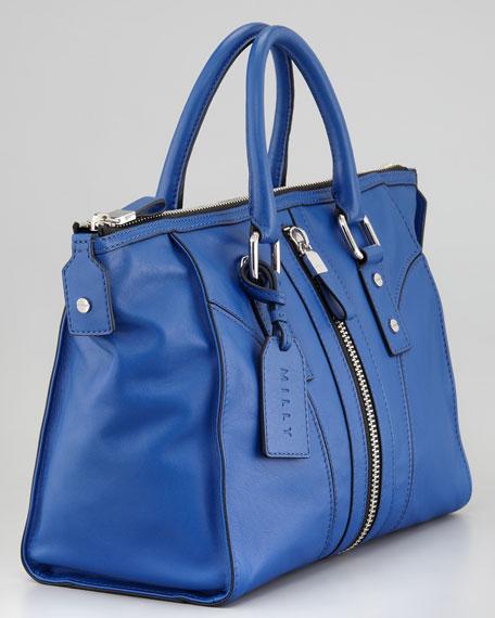 Jayden Satchel Bag, Cobalt