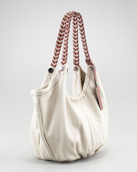 Colorblock Double-Strap Hobo Bag