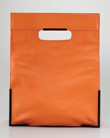 Scout Cutout-Handle Tote Bag, Tangerine