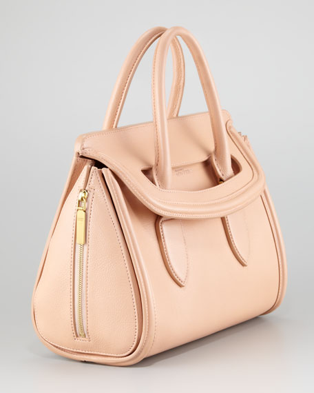 Small Heroine Satchel Bag, Blush