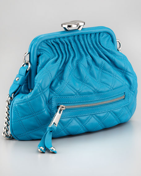Stam Little Quilted Leather Crossbody Bag