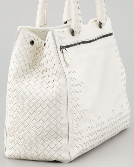 Cervo Double-Handle Medium Tote Bag, Off-White
