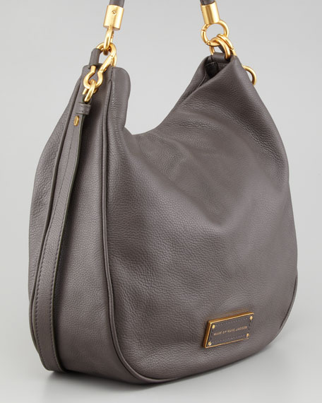 Too Hot To Handle Hobo Bag, Faded Aluminum