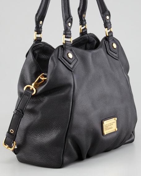 Classic Q Francesca Calfskin Tote Bag, Black