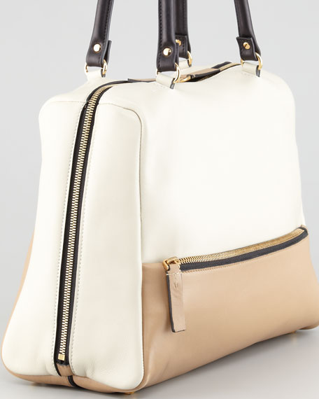 Colorblock Satchel Bag