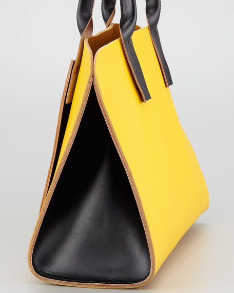 Colorblock Shopping Bag