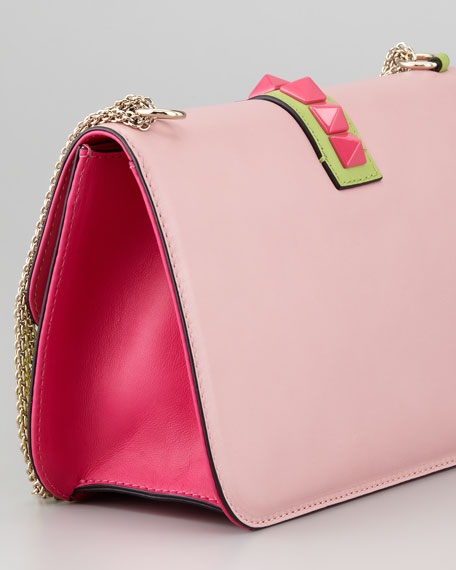 Glam Lock Small Bag, Light Pink/Green
