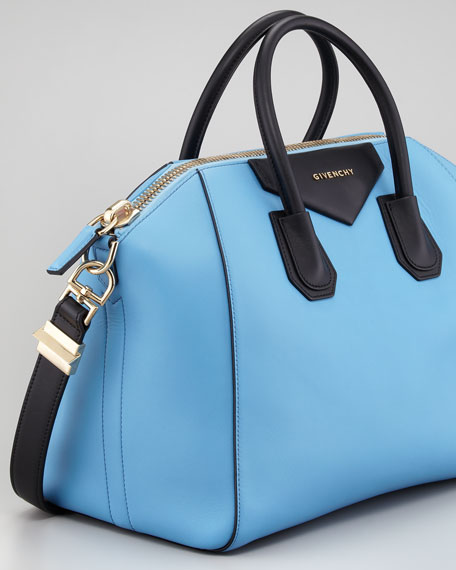 Antigona Colorblock Medium Satchel Bag, Blue/Black