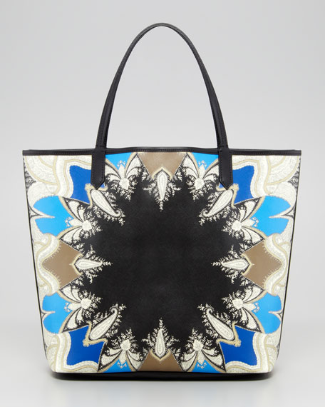 Antigona Scarf-Print Medium Shopper Tote Bag