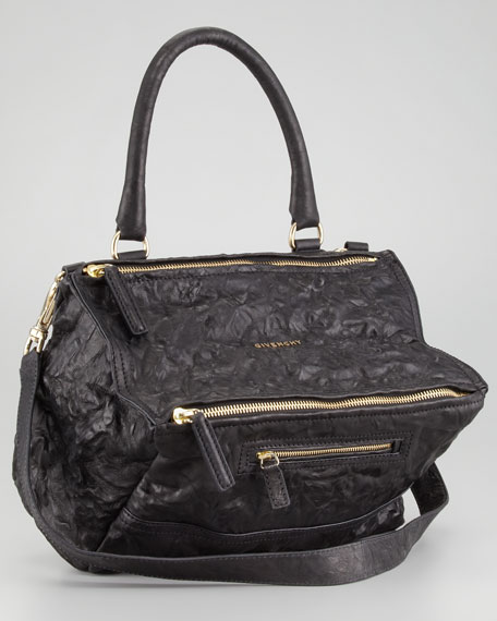 Pandora Medium Satchel Bag, Black