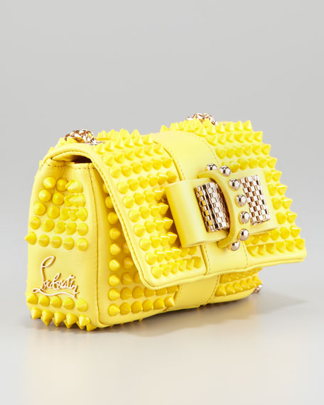 Sweet Charity Mini Spiked Shoulder Bag, Yellow