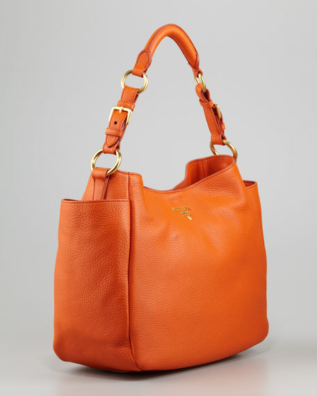 Daino Double-Pocket Hobo Bag
