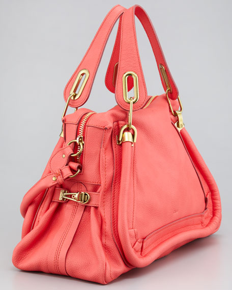 Paraty Medium Shoulder Bag, Paradise Pink