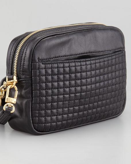 Milo Quilted Mini Bag, Black