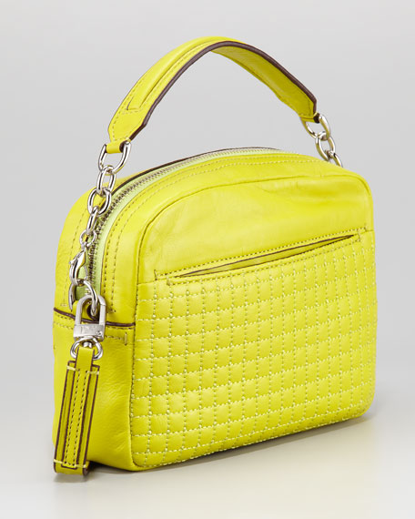 Milo Quilted Mini Bag, Citrine
