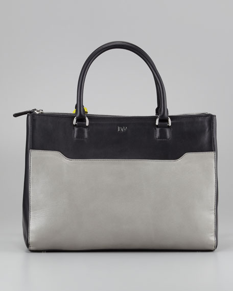 Eva Colorblock Tote Bag, Citrine