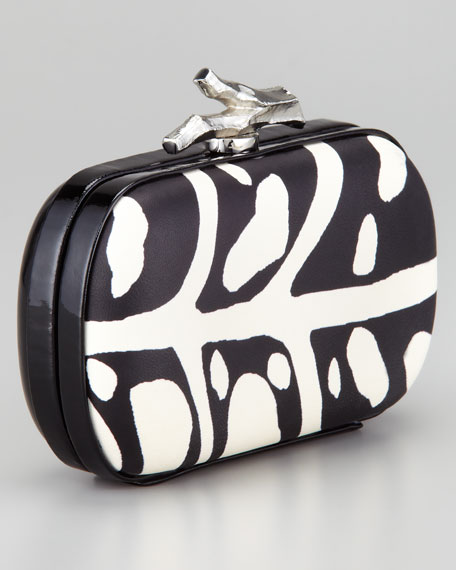 Lytton Printed Leather Clutch