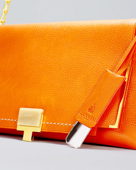 New Partition Large Shoulder Bag, Orange