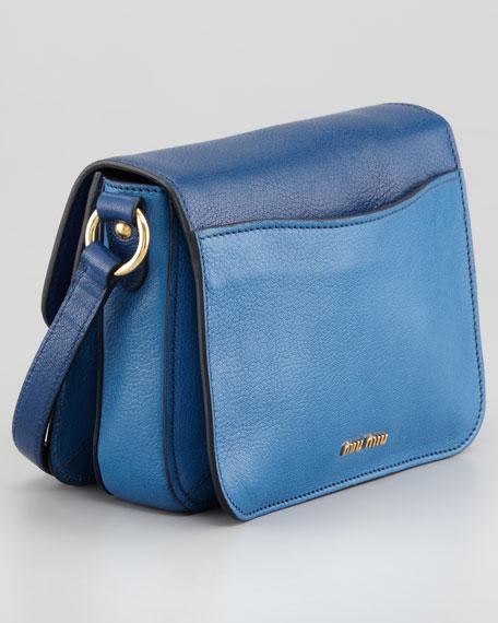 Madras Bicolor Shoulder Bag, Marea/Cobalto