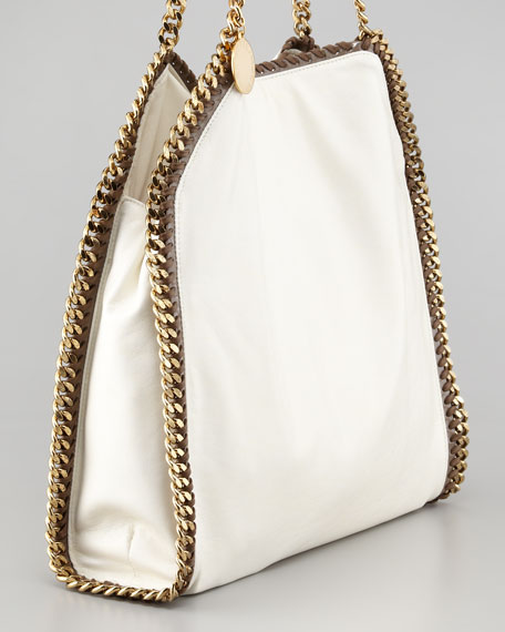 Falabella Faux Leather Tote Bag, Ivory