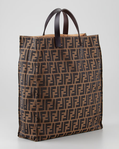 Zucca Always Shopper Tote Bag, Tobacco/Brown