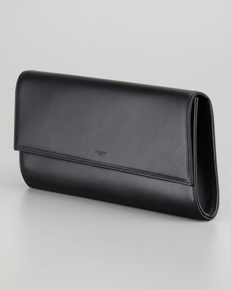 Diagonale Leather Clutch Bag, Black
