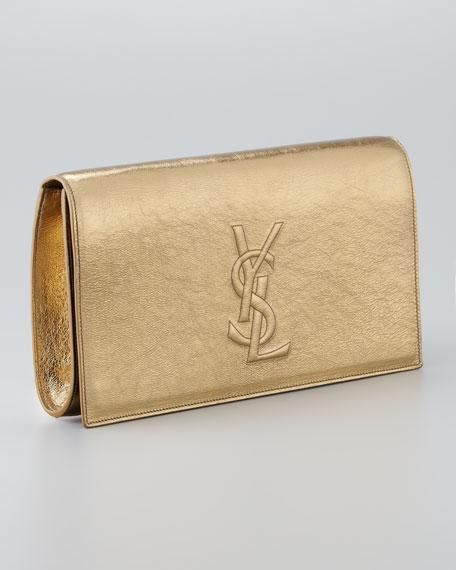 Metallic Belle De Jour Clutch Bag, Pale Gold