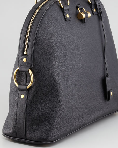 Muse Large Domed Satchel Bag, Black