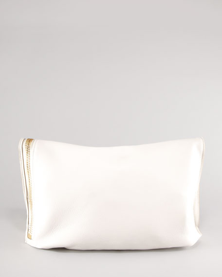 Alix Fold-Over Bag, Ivory