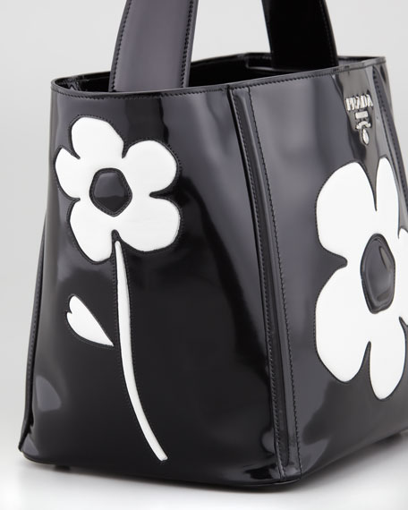 Spazzolato Floral Open Bucket Bag