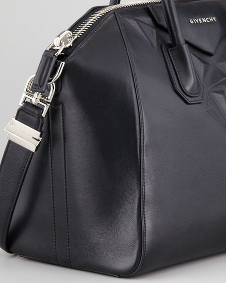Antigona 3D Stud Medium Satchel Bag Black c3ee78b02d054