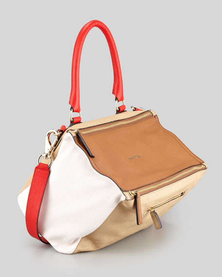 Pandora Medium Colorblock Satchel Bag