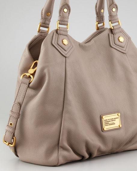 Classic Q Fran Satchel Bag, Tan