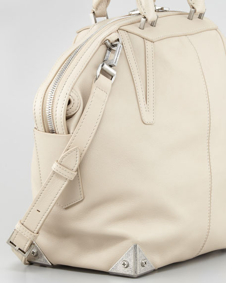 Emile Small Satchel Bag, Beige