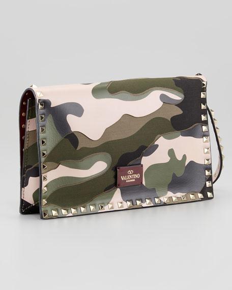 Rockstud Camo Wristlet Bag