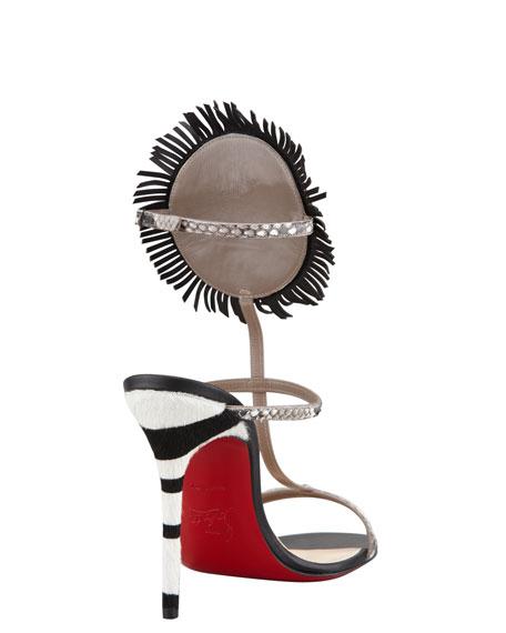 Kimpa Mask-Cuff Python T-Strap Sandal