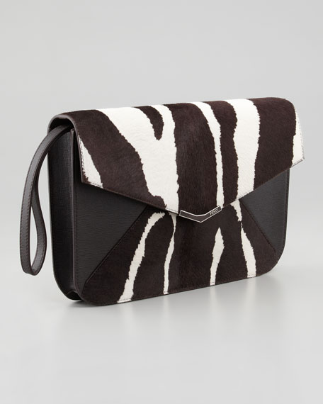 2Jours Calf Hair Clutch/Wristlet Bag