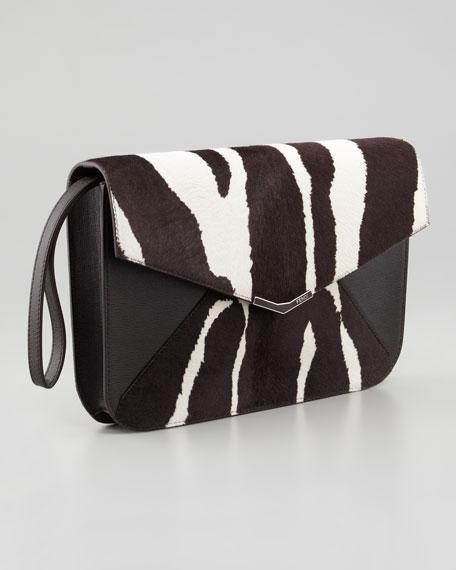 787a20990988 Fendi 2Jours Calf Hair Clutch Wristlet Bag