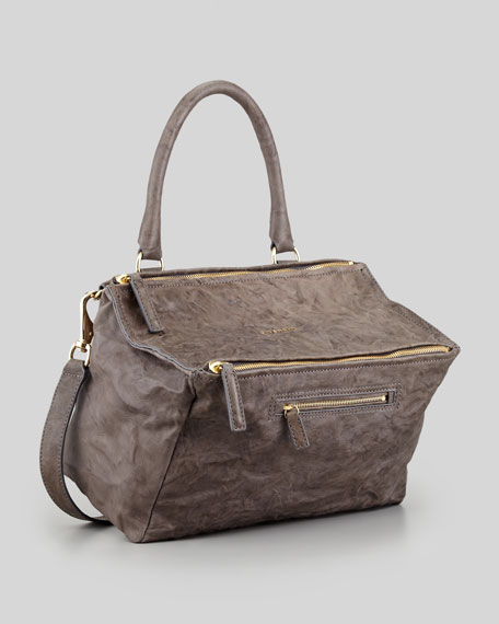 Pandora Medium Old Pepe Satchel Bag, Charcoal