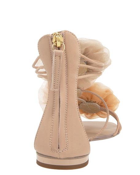 Flower Back-Zip Sandal