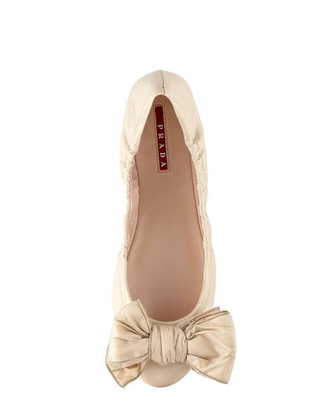 Patent Puffer-Bow Ballerina
